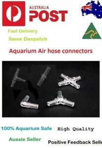 12 x AIR HOSE 2 or 3 Ways CONNECTOR FITTINGS FOR AQUARIUM FISH TANK AERATOR NANO