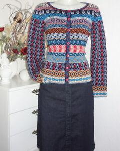 King Louie Rock Jeans-Rock blau midnight Skirt Denim Stoff-Knöpfe