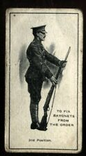 Tobacco Card, Imperial Canada,INFANTRY TRAINING,1915, Fix Bayonets Two, #17