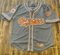 Authentic Oregon State Beavers NCAA College Baseball Jersey L Colosseum Sewn