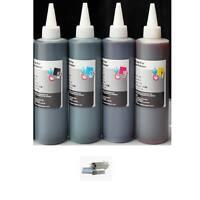 4 Bulk refill ink for HP inkjet printer 4 colors 4x250ml