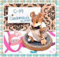 ❤️Wee Forest Folk C-1a Cinderella's Slipper RETIRED Girl Mouse Wedding Figure❤️