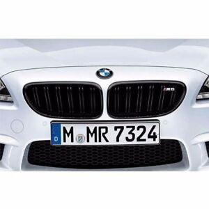 BMW 51712352810/809 OEM BLACK KIDNEY GRILLES F12 F13 F06 M6 W/ EMBL NEW GENUINE
