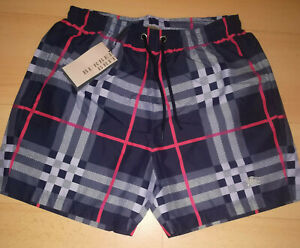 Burberry men's swimming sports shorts with logo