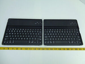 Lot of 2 Logitech Zagg Tablet Keyboard Cases Y-R0023 820-004133 SKU A T