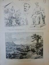 1887 HONGRIE EPERIES INCENDIE DESTRUCTION DESSIN TINAYRE
