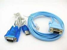 USB to RS232 Serial + RJ45 Cat5 Adapter Connector Cable Cord for Cisco Routers