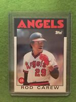 ROD CAREW BASEBALL CARD MLB 1986 Topps #400 California Angels 1B: New From Pack!