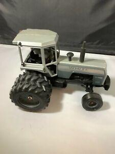 WHITE SILVER STRIPED 2-155 1/16 SCALE TRACTOR