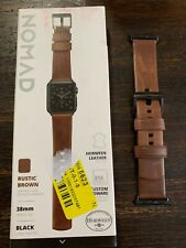 Nomad Leather Strap for Apple Watch 38mm RUSTIC BROWN PREOWNED!