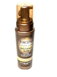 Jergens Natural Glow INSTANT SUN Sunless Tanning Mousse LIGHT BRONZE 6 oz