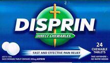 ==> DISPRIN DIRECT CHEWABLE 300MG ASPIRIN 24  CHEWABLE TABLETS