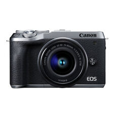 Canon EOS M6 Mark II Mirrorless Camera (Silver) with EF-M 15-45mm f/3.5-6.3 Lens