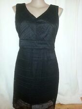 Katies Limited Edition Black lace over Shift Dress desk to dinner Size 16 NEW