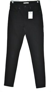 Womens Levis High Rise Skinny 721 Black Stretch Jeans Size 12 W30 L32