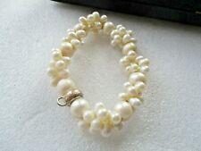 Genuine Thomas Sabo Freshwater Cluster Pearl Charm 925 Sterling Silver Bracelet
