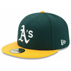 New Era Oakland Athletics HOME 59Fifty Fitted Hat (Green/Yellow) MLB Cap