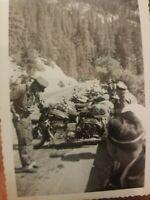 Vintage Motorcycle Harley Davidson Bike LineUp Photo CA Mountains Original 3.5x5