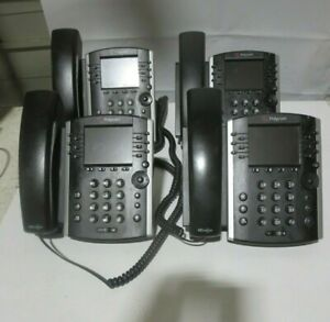 Polycom VVX 400 (3) & VVX 410 (1) Business Media Phones w/Handsets & Stands