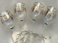 RETIRED SET of 4  LENOX ETERNAL TREE 12 OZ WATER GOBLETS WINE GLASSES NWT