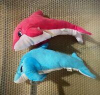 Soft Plush 33cm Dolphin Ocean Animal Cuddly Stuffed Nature Toy Kids Gift cuddle