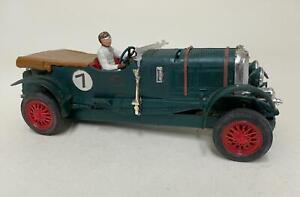 Vintage Tri-Ang Scalextric Green 4 1/2 Litre Bentley MM/C 64 Car - Loft Find