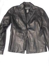 Banana Republic 100% Leather Jacket Black Blazer Style Fall Outerwear  Size 2