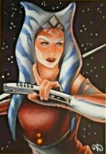 ACEO Original ~ STAR WARS ~ The Clone Wars ~ Ahsoka Tano