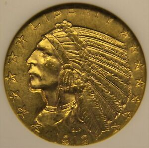 1912 Gold $5, MS-62 (ANACS Old Holder)