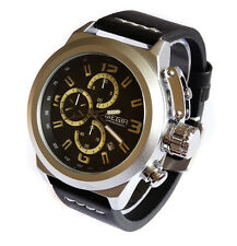 MILITARY Naval Pilot's 48mm Canteen CHRONOGRAPH Aviator's Steel Boat Sub TW U