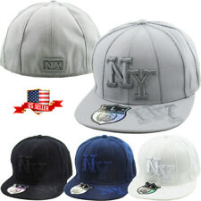 New York Flat Brim Fitted Baseball Cap NY Embroidered Hip Hop Hat