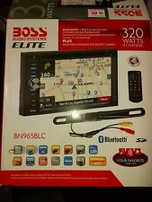 Boss bn965blc 2 double din DVD GPS in dash with camera