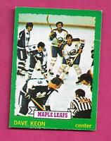 1973-74 OPC # 150 LEAFS DAVE KEON  GOOD CARD (INV# A9210)