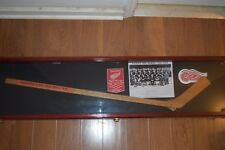 Detroit Red Wings 1959-60 Team Autographed Stick Gordie Howe Abel Terry Sawchuk
