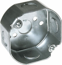 Raco  3-1/2 in. Octagon  Steel  1 gang Junction Box  Gray