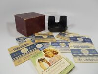 Vintage Sawyer Viewmaster Stereoscope with Calif 8 Reels, 1/2 Box & Paper