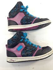 💗EUC💗 PASTRY GIRL'S LACE GLITTER FASHION HIGH TOP BASKETBALL SHOES Sz 6 M