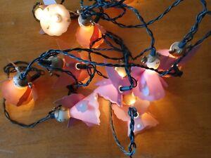 10 Vintage Christmas Angel Fairy lights 5 pink 5 purple working