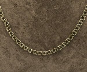"""Ladies 9ct Gold Double Link Chain 16.5"""" - 05.20425L"""