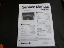 Original Service Manual Panasonic SB-AK90