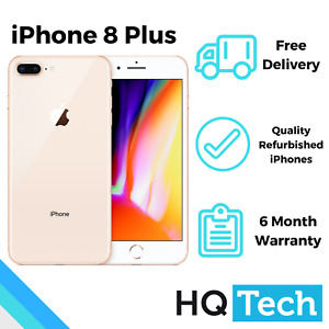 Apple iPhone 8 Plus Grade A/A+ 64GB Black Silver Gold Red Unlocked Refurbished