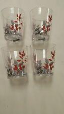4-pk CORELLE Boutique KYOTO LEAVES  14 oz acrylic glasses  Japanese Watercolor