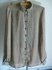 Ladies Long Sleeve Striped Collared Shirt, Size Small, Zara