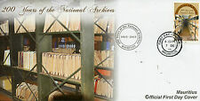 Mauritius 2015 FDC National Archives 200 Years 1v Set Cover