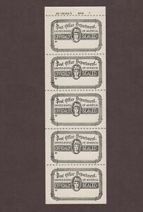 US,OX39,MNH,VF,BOOKLET PANE,VINTAGE,POST OFFICE OFFICIAL SEAL COLLECTION