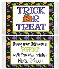 Halloween Popcorn Wrappers  Birthday Party Favors Personalized
