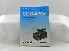 Sony CCD V30E Video 8 Handycam Operating Instructions ~ Good Condition