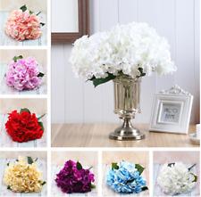5 Heads Wedding Artificial Hydrangea Silk Flower Home Party Bouquet Decor Hot