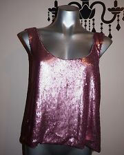 Unbranded Sequin Solid Sleeveless Tops for Women