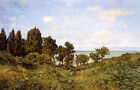 Art Oil painting Claude Monet - By the Sea impressionism landscape canvas